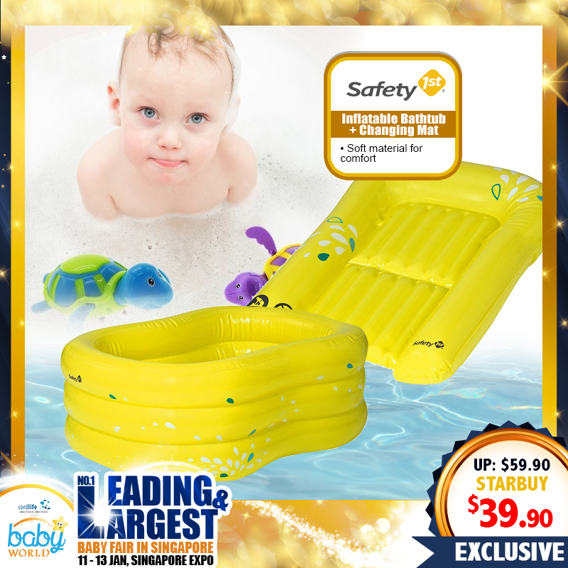 Safety 1st INFLATABLE BATH TUB + Changing Mat