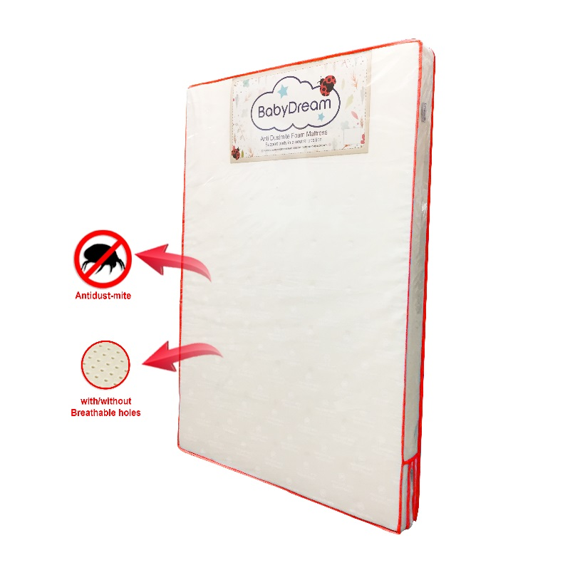 BabyDream AntiDustmite Foam Mattress (For Baby Cot / Playpen)