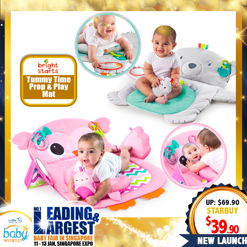 Bright Starts Tummy Time Prop & Playmat