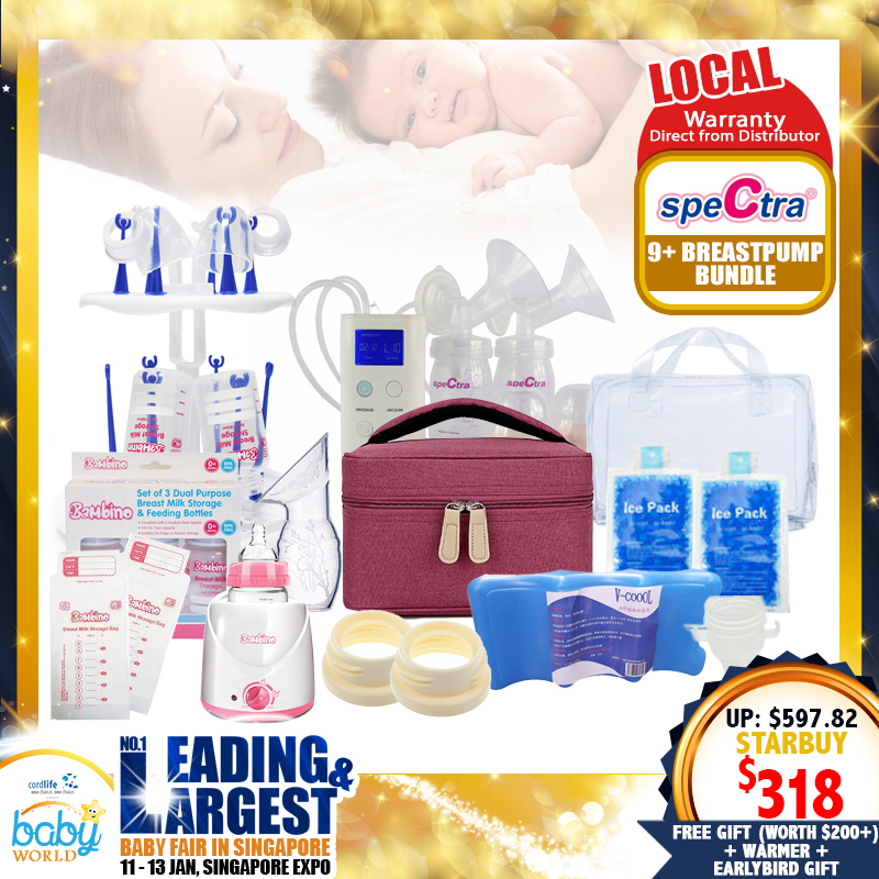 Spectra S9+ Breastpump + Milk Warmer + Free Gifts worth $200+! (From Local Distributors only!!) - (Additional Free Gift ONLY For EARLY BIRD SPECIAL*)