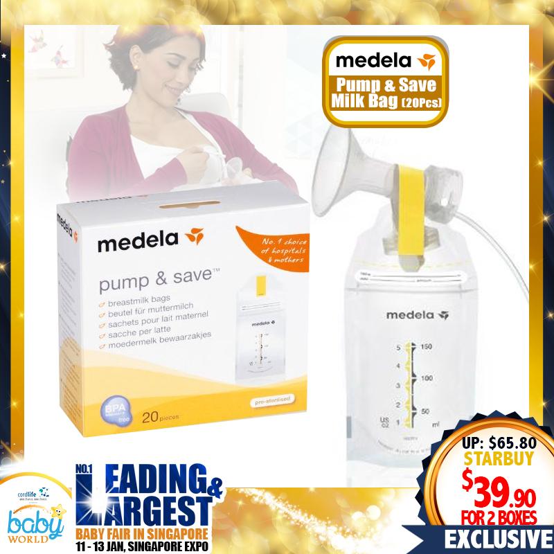 Medela Pump & Save Breastmilk Bag Bundle (2 x 20pcs)
