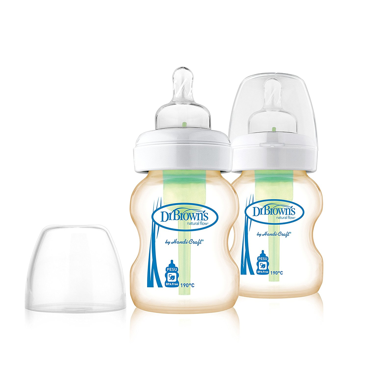 Dr Brown PESU Options Wide-Neck Baby Bottles Bundle