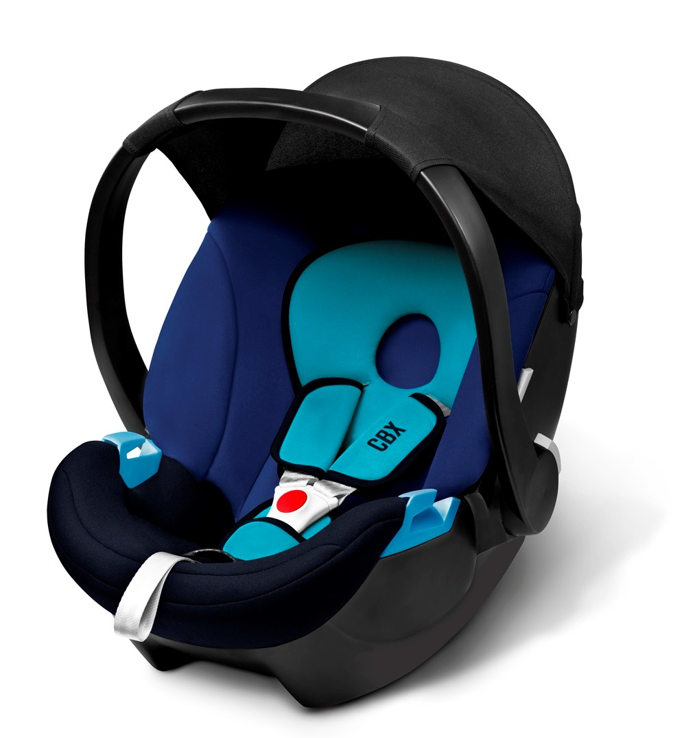 Cybex Aton Basic Newborn Carseat (BLUE MOON) FREE JJ Cole Carseat Arm Cushion (WORTH $19.90!!)