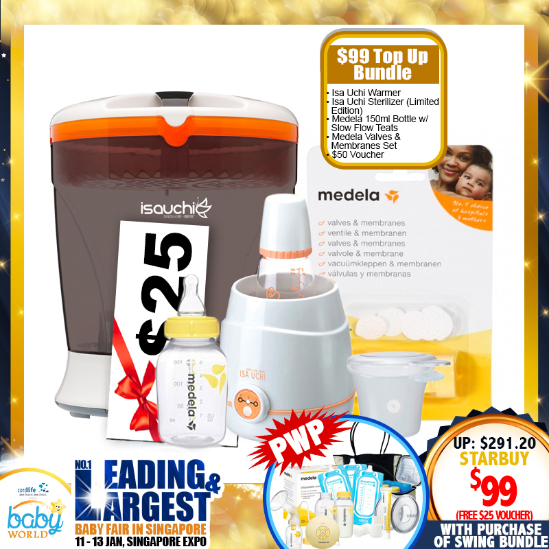 Isa Uchi Digital Sterilizer (Limited Edition) + Bottle Warmer + $25 M&B Voucher + A Lot More Items For $99 ONLY!! PWP Deal!!