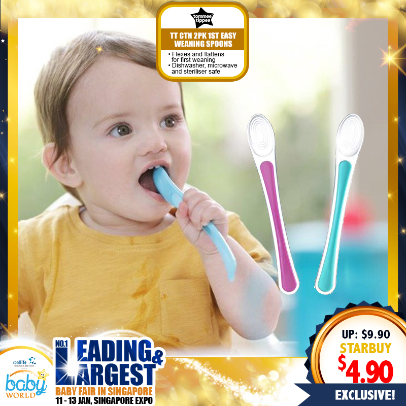 Tommee Tippee Closer to Nature 1st Easy Weaning Spoons - 2pk