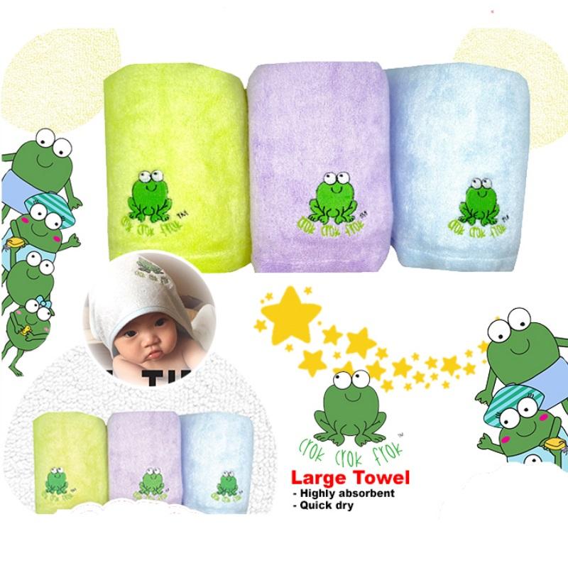 Crok Crok Frok Large Bamboo Towel (BUY 1 FREE 2!!)