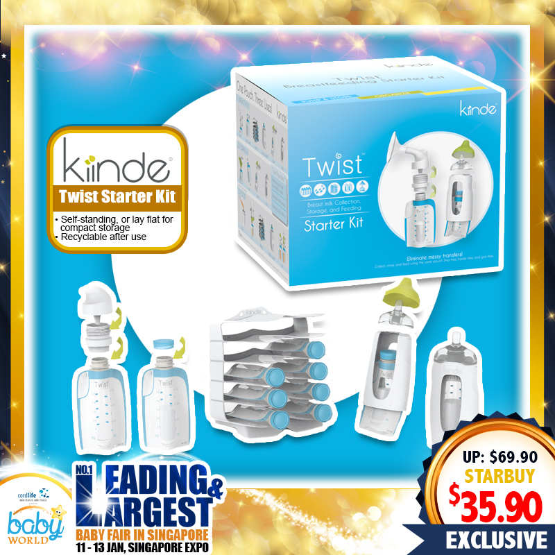 Kiinde Twist Starter Kit Set (Breastmilk Storage)