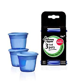 Tommee Tippee Essential Food Pots - 3pk