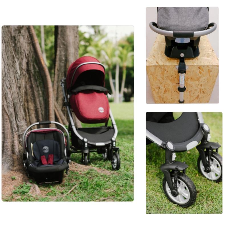 Nachuraru All-In-One Stroller + Carseat + Airwheels + ISO Fix + FREE 1 Year Warranty
