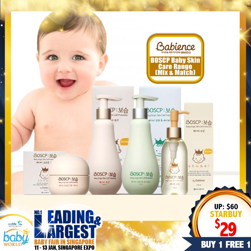Babience Skincare Range Buy 1 Get 1 Free (Mix & Match)