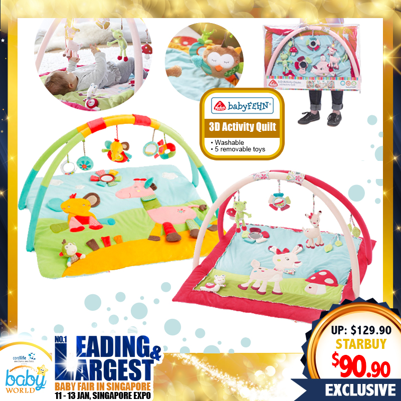Baby Fehn 3D Activity Quilt Playgym