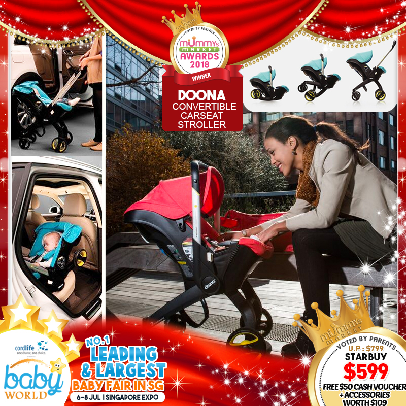 Doona Convertible Carseat Stroller PLUS $50 Cash Voucher!! *FREE  $100 Cash Voucher For EARLY BIRD Specials!!