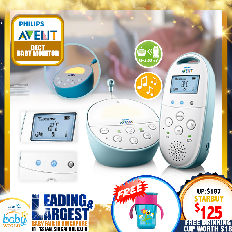 Philips Avent DECT Baby Monitor (SCD 560/01) + Free 260ml Drinking Cup