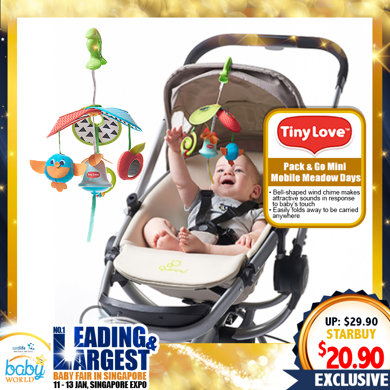 TinyLove Pack & Go Mini Mobile Meadow Days Toy