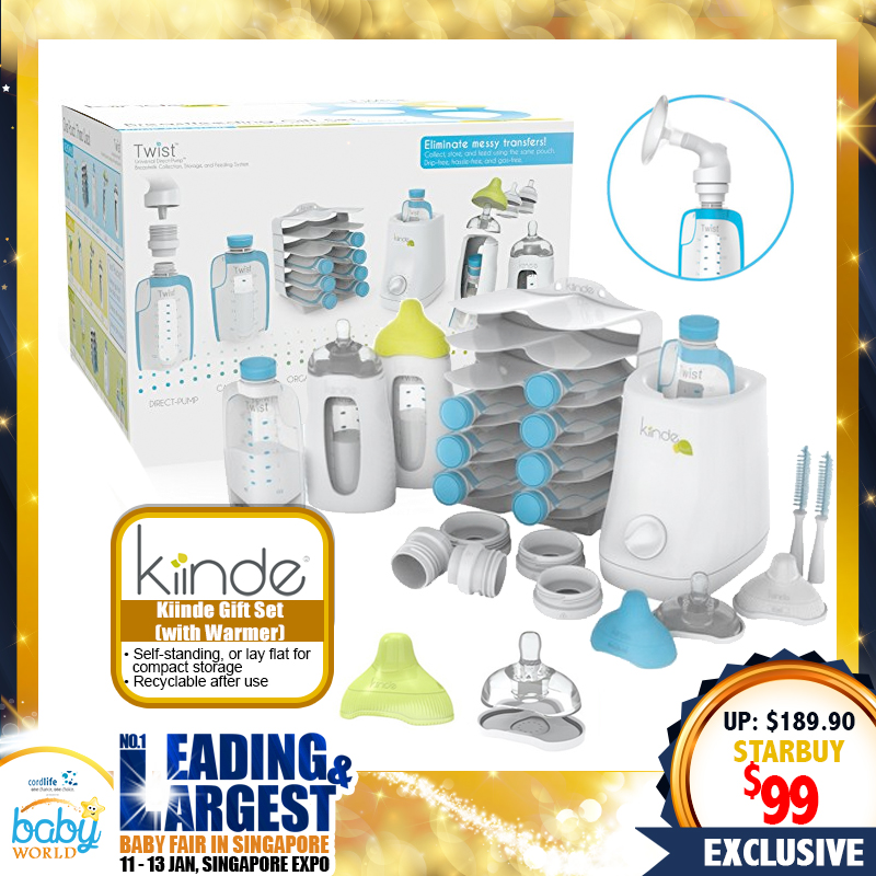 Kiinde Twist Gift Set With Warmer (Breastmilk Storage)