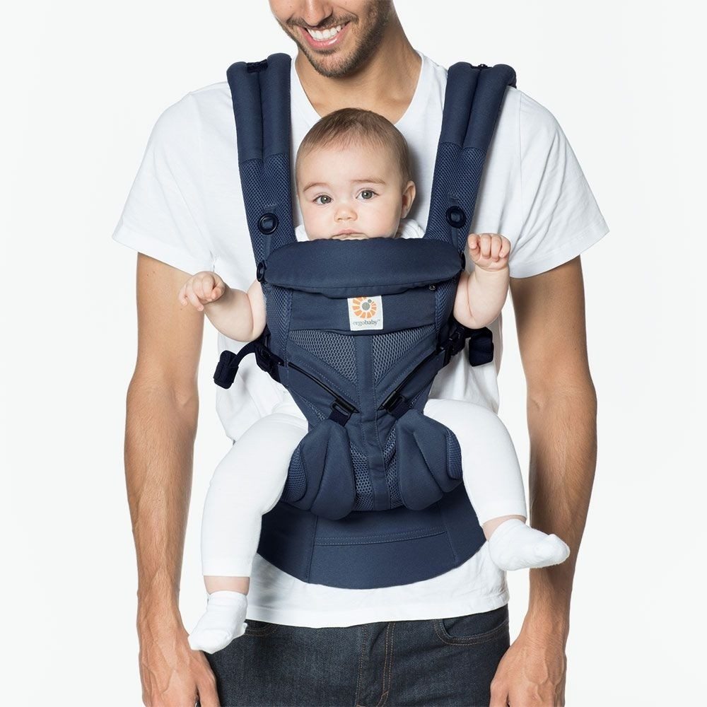 Ergobaby OMNI 360 All-In-One Cool Air Mesh Baby Carrier - Midnight Blue *FREE NEW DESIGN TEETHING PAD (EXCLUSIVE) for EARLY BIRD SPECIAL!!