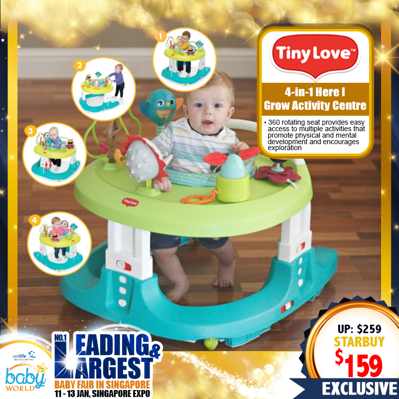 TinyLove 4-in-1 Hear I Grow Activity Centre