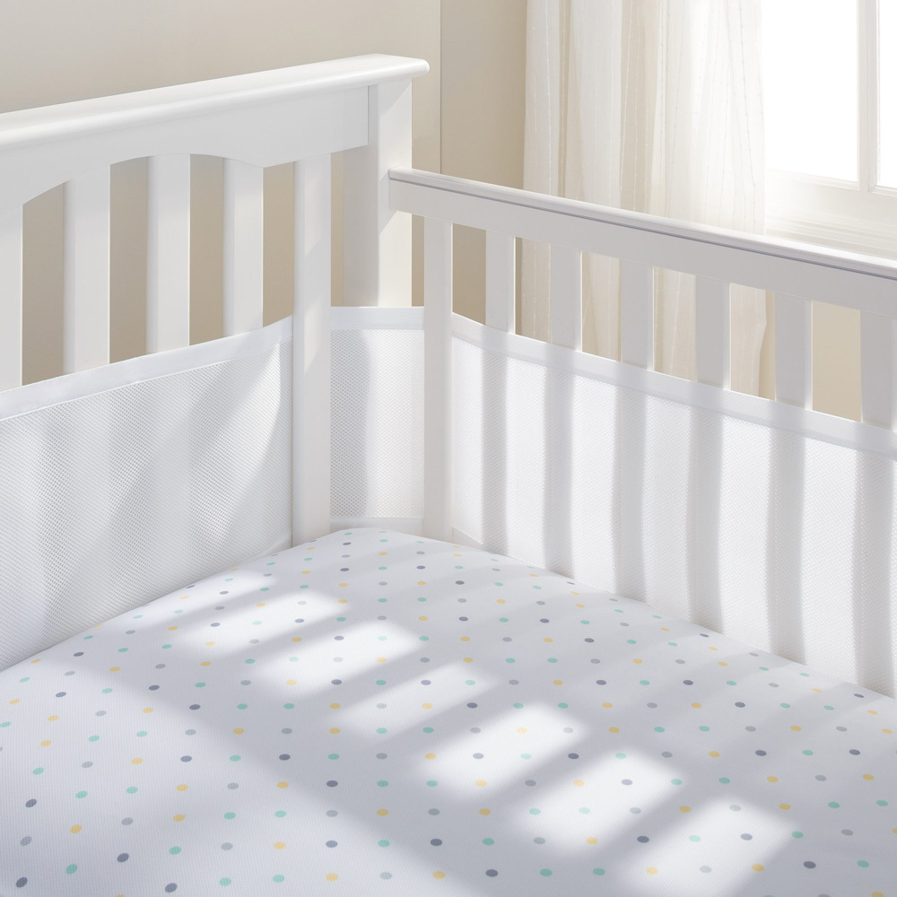 Breathable Baby 2 Sided Mesh Cot Liner - White