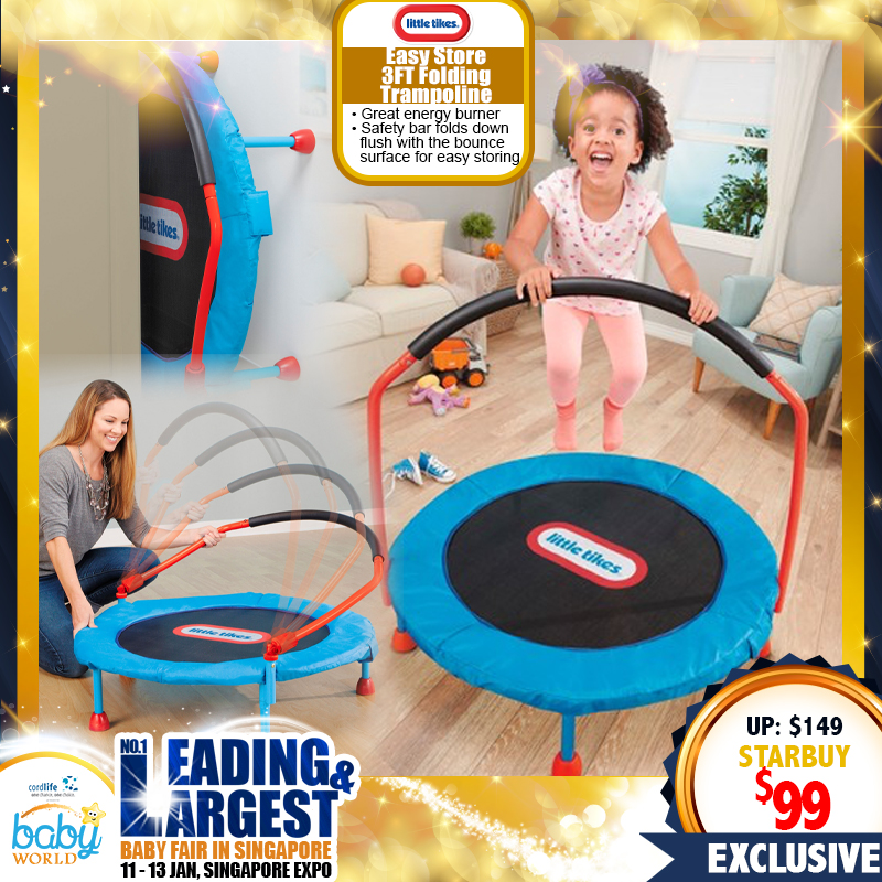 Little Tikes Easy Store 3FT Folding Trampoline Toy