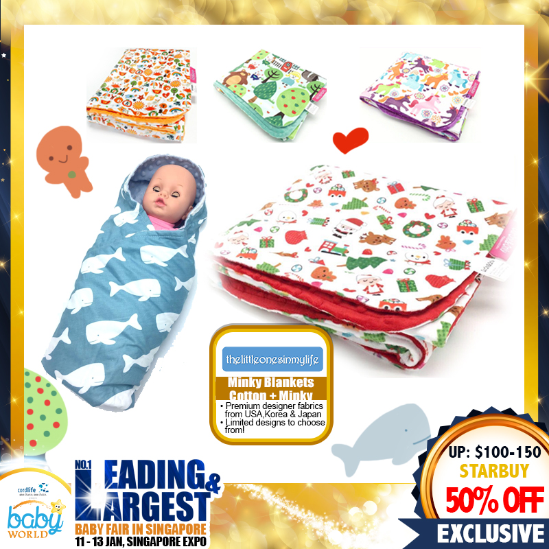 Minky Blankets Cotton + Minky at 50% OFF
