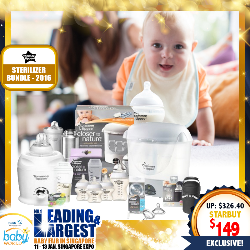 Tommee Tippee sterilizer Bundle 2016 MORE THAN 50% OFF!!