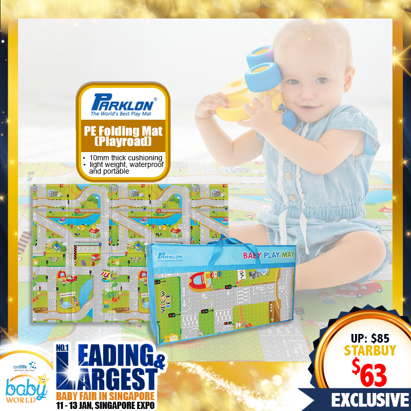 NEW LAUNCH!! Parklon PE Folding Playmat - Playroad