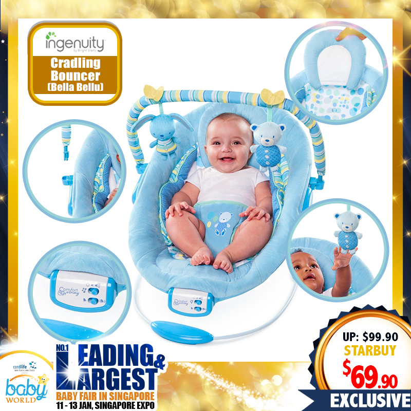 Ingenuity Cradling Bouncer - Bella Bellu
