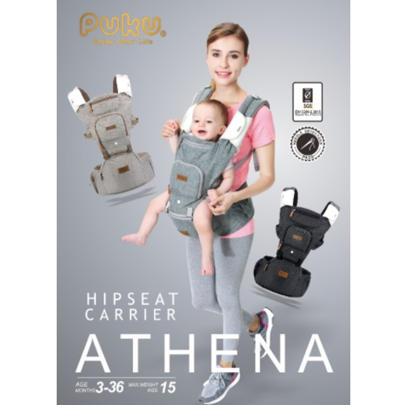 PUKU Hipseat Carrier Athena Black