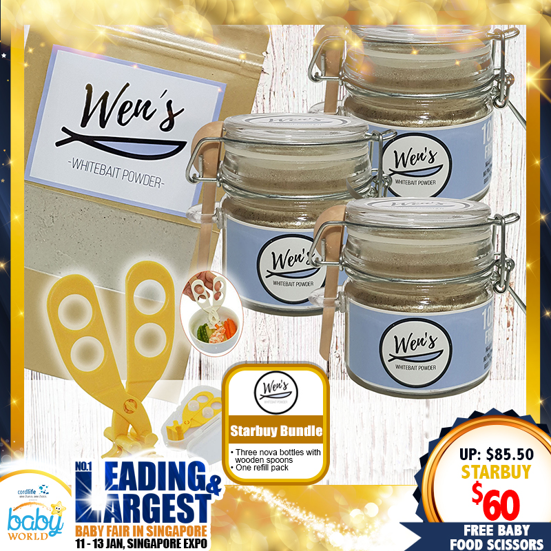 Wen's WhiteBait Powder Special Bundle + Free Baby Food Scissors