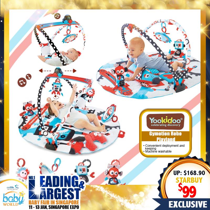 Yookidoo Gymotion Robo Playland Playmat (Activity Playgym)