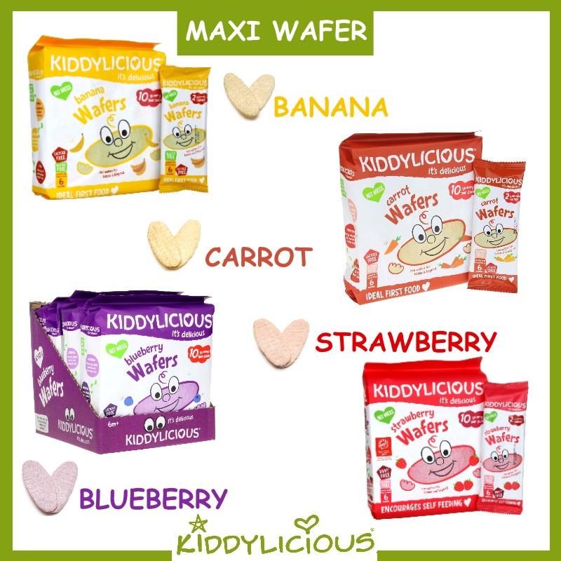 Kiddylicious Baby Food (Maxi Wafer / Mini Wafer / Mini Coconut Roll) Bundle of 3