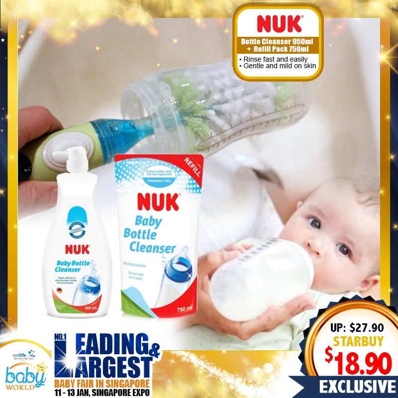NUK Bottle Cleanser 950ml + Refill Pack 750ml