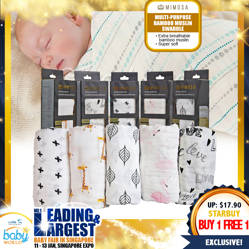 Mimosa Multi-purpose Bamboo Muslin Swaddle *BUY 1 GET 1 FREE!!