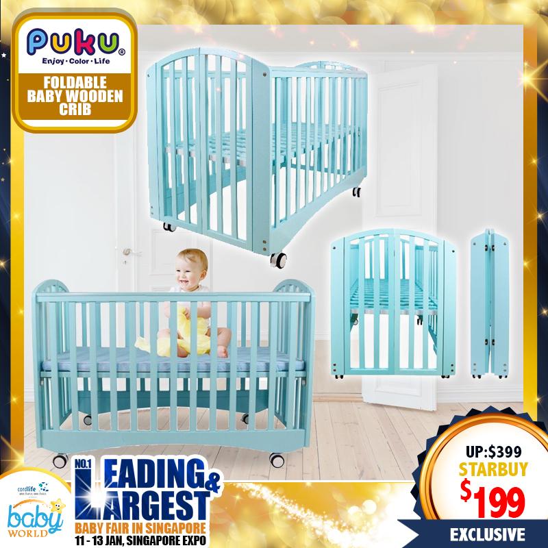 PUKU Izzy Foldable Baby Crib (Cot) 50 Percent OFF