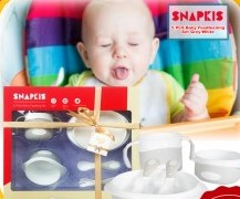 SNAPKIS 5 Piece Baby Foodfeeding Set