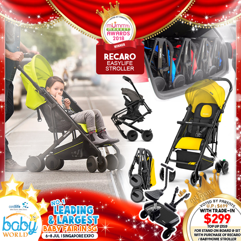 Recaro Easylife Stroller ($299 ONLY With Trade In!) PWP Bumprider Stand On Board is Available!!