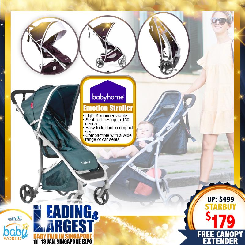 Babyhome Emotion Stroller FREE Canopy Extender (Worth $29.90)