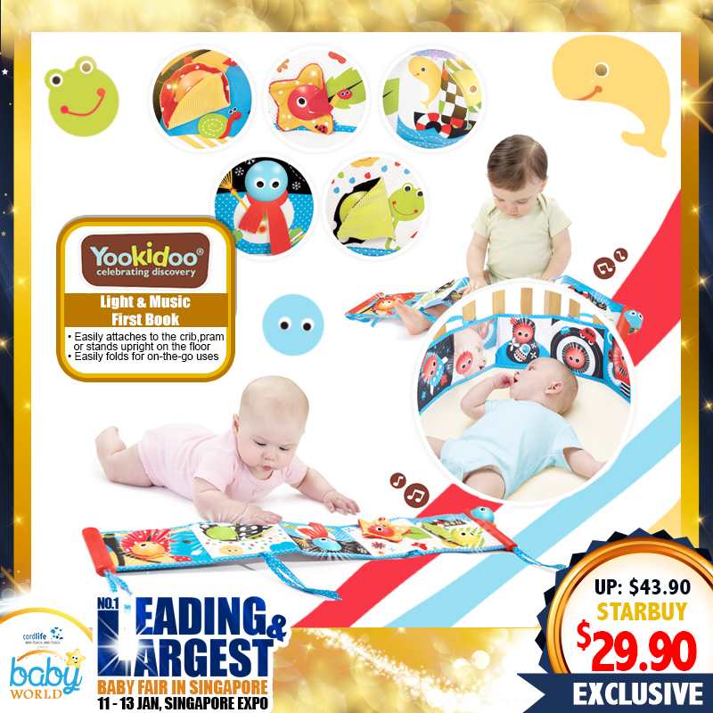Yookidoo Lights and Music Soft Double Sided First Book Toy