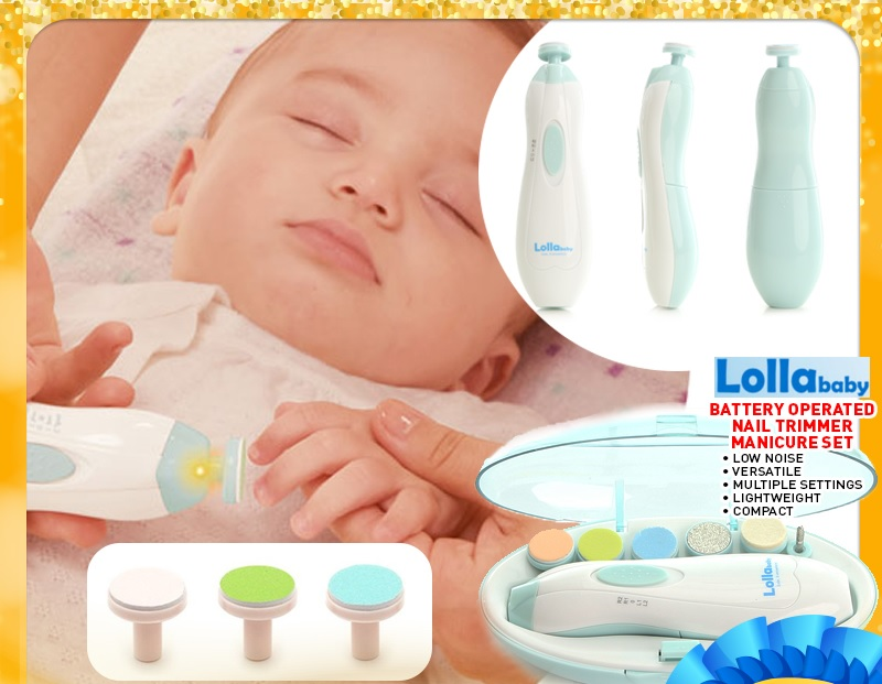 Lollababy Battery Operated Nail Trimmer Manicure Set