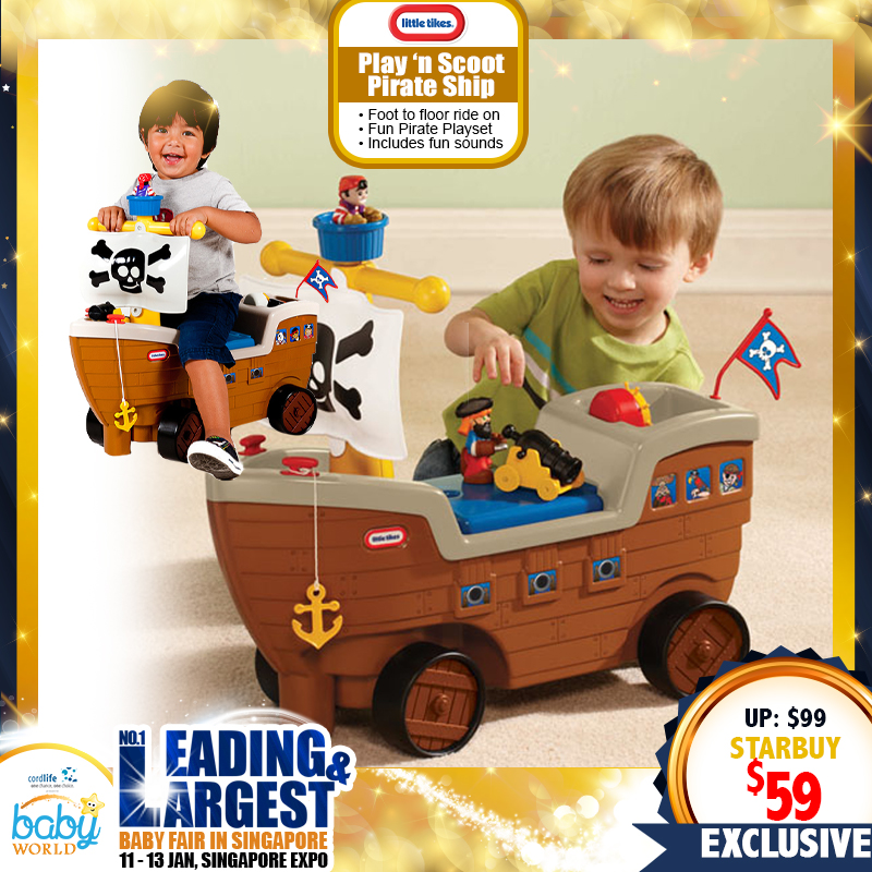Little Tikes Play 'n Scoot Pirate Ship Toy