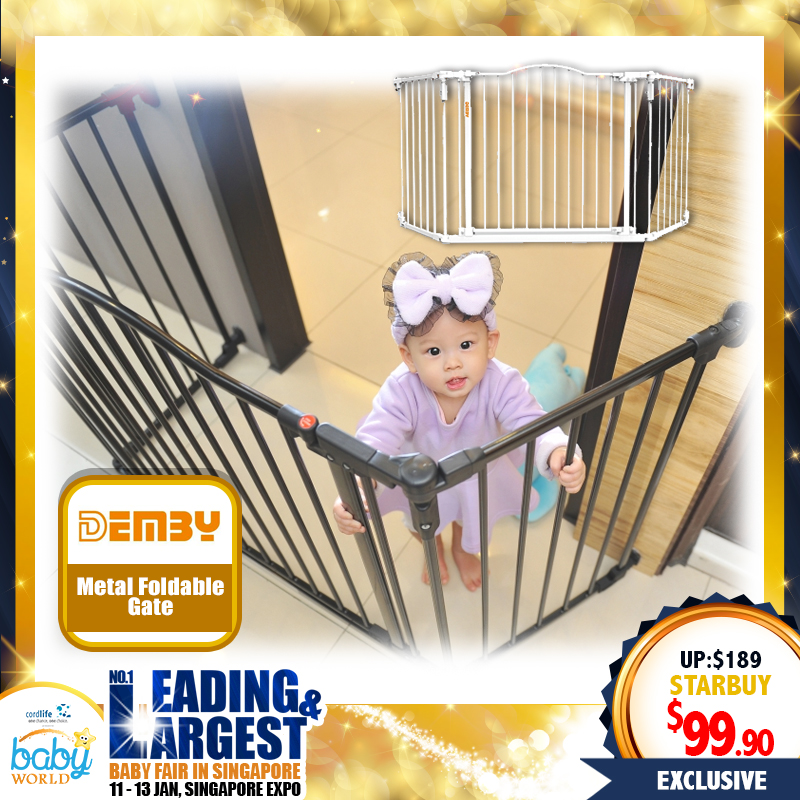 DEMBY Metal Foldable Gate!! (Fit from 60cm-102cm)