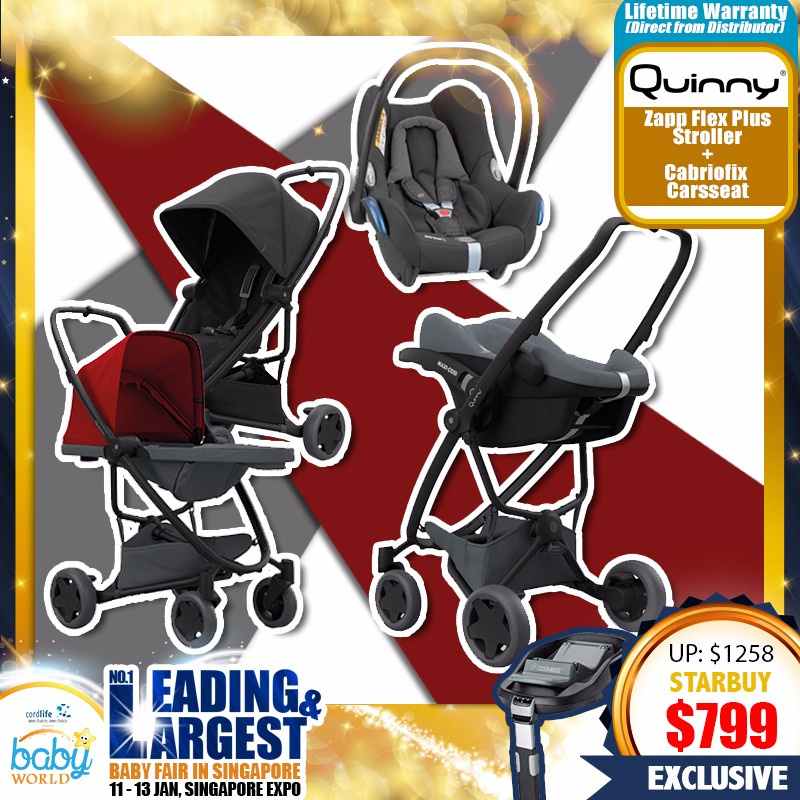 Quinny Zapp Flex Plus Stroller + Cabriofix Carseat Bundle + Free Lifetime Warranty!! (PWP Available)