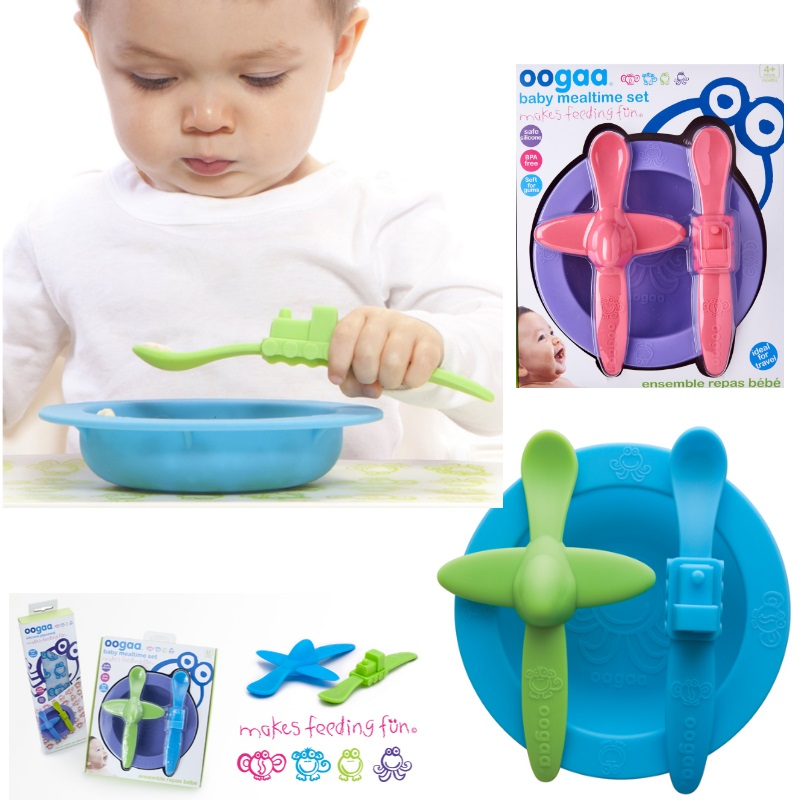 OOGAA Silicone Baby Mealtime Set ( 2 Spoons + 1 Bowl) - 33 PERCENT OFF