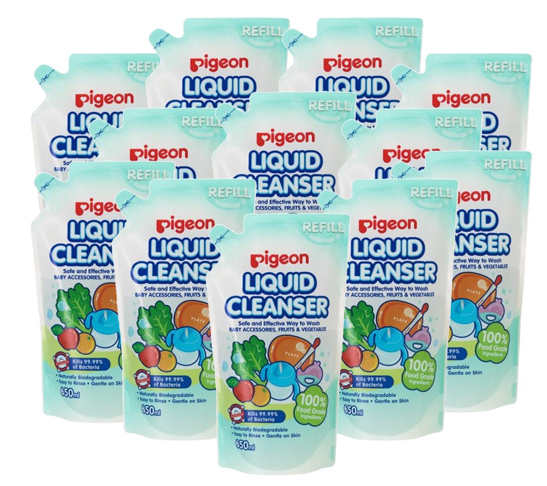 Pigeon Liquid Cleanser Refill 650ml X 12 packs (Carton Deal) + Free Liquid Cleanser 700ml