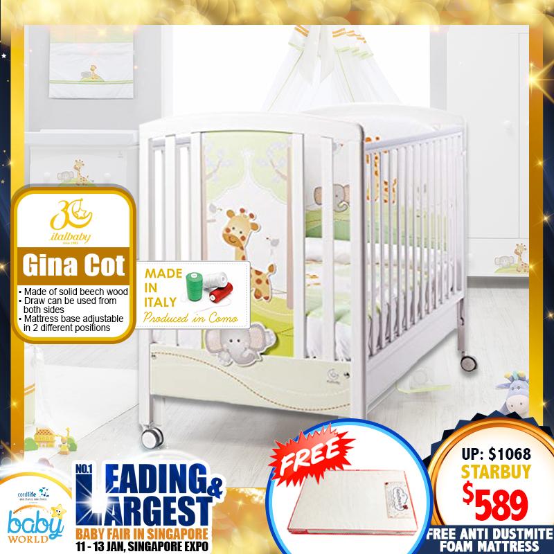 ITALBABY Gina Baby Cot + Free 4
