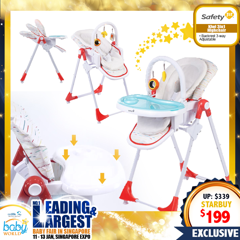 Safety 1st Kiwi 3in1 Highchair (Ultra Compact)