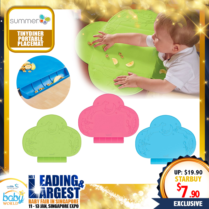 SUMMER INFANT TINYDINER PORTABLE PLACEMAT (MULTIPLE COLORS)