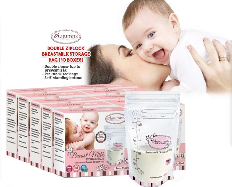 Autumnz Double ZipLock Breastmilk Storage Bag Bundles (*ADDITIONAL DISCOUNT for EARLY BIRD SPECIAL!!)