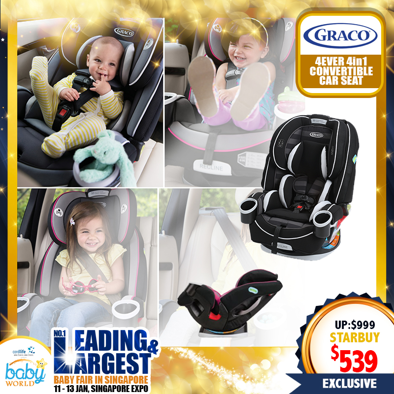 Graco 4ever 4-in-1 Carseat + Free Carseat Undermat worth $79.90