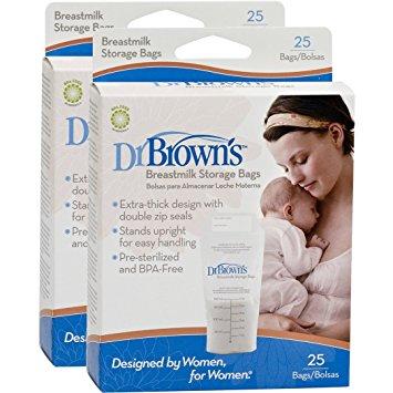 Dr Brown Breastmilk Storage Bags (25pcs X 3)